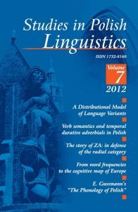 Studies in Polish Linguistics, 2012/10, Issue 1