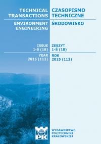 Czasopismo Techniczne, 2015/9, Środowisko Zeszyt 1-Ś (18) 2015