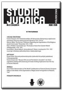 Studia Judaica, 2016/11, Nr 1 (37)