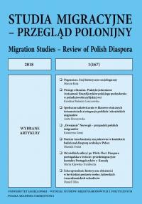 Studia Migracyjne – Przegląd Polonijny, 2018/9, Nr 1(167)