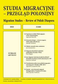 Studia Migracyjne – Przegląd Polonijny, 2019/3, Nr 1 (171)