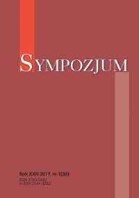 Sympozjum, 2019/6, nr 1 (36)