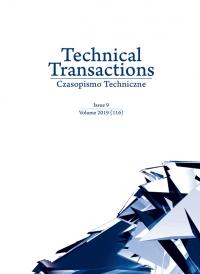 Czasopismo Techniczne, 2019/9, Volume 9