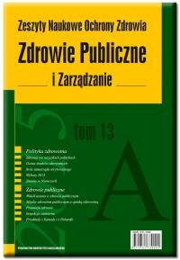 Zdrowie Publiczne i Zarządzanie, 2017/12, Tom 15, Numer 4
