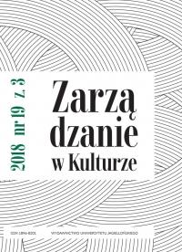 Zarządzanie w Kulturze, 2018/10, Tom 19, Numer 3