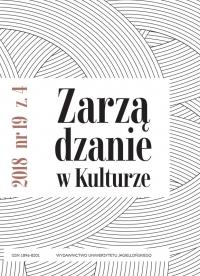 Zarządzanie w Kulturze, 2018/12, Tom 19, Numer 4