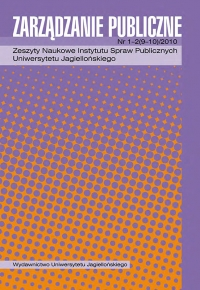 Zarządzanie Publiczne, 2010/1, Numer 1-2 (9-10)