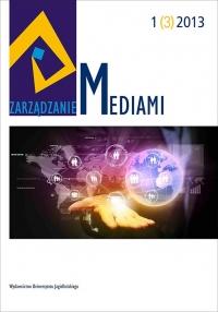 Zarządzanie Mediami, 2013/9, Tom 1, Numer 3