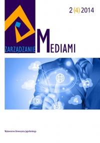 Zarządzanie Mediami, 2014/12, Tom 2, Numer 4