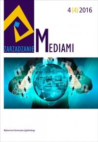 Zarządzanie Mediami, 2016/12, Tom 4, Numer 4