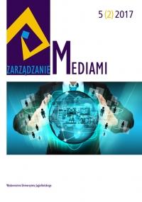 Zarządzanie Mediami, 2017/9, Tom 5, Numer 2
