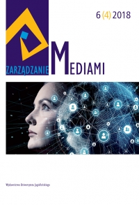 Zarządzanie Mediami, 2018/12, Tom 6, Numer 4