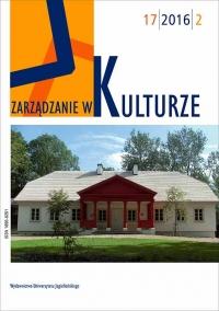 Zarządzanie w Kulturze, 2016/3, Tom 17, Numer 2