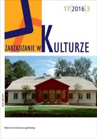 Zarządzanie w Kulturze, 2016/7, Tom 17, Numer 3
