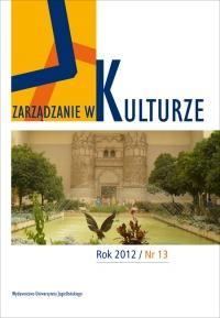 Zarządzanie w Kulturze, 2012/12, Tom 13, Numer 4