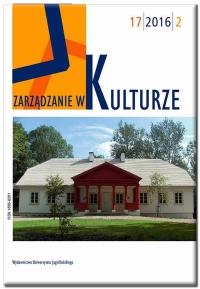 Zarządzanie w Kulturze, 2017/9, Tom 18, Numer 2