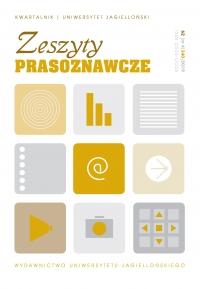 Zeszyty Prasoznawcze, 2019/12, Tom 62, Numer 4 (240)