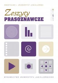 Zeszyty Prasoznawcze, 2019/3, Tom 62, Numer 1 (237)