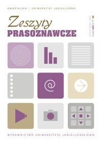 Zeszyty Prasoznawcze, 2015/11, Tom 58, Numer 3 (223)