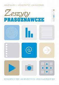 Zeszyty Prasoznawcze, 2015/12, Tom 58, Numer 4 (224)