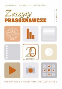 Zeszyty Prasoznawcze, 2018/12, Tom 61, Numer 4 (236)