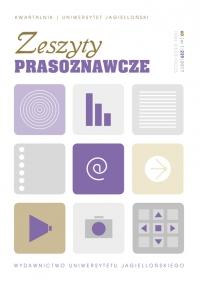 Zeszyty Prasoznawcze, 2017/1, Tom 60, Numer 1 (229)
