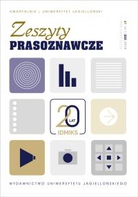 Zeszyty Prasoznawcze, 2018/3, Tom 61, Numer 1 (233)