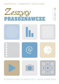 Zeszyty Prasoznawcze, 2020/3, Tom 63, Numer 1 (241)