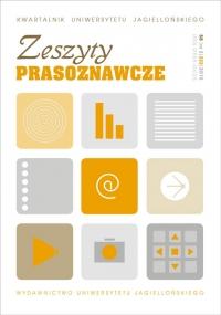 Zeszyty Prasoznawcze, 2015/10, Tom 58, Numer 2 (222)