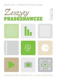Zeszyty Prasoznawcze, 2016/10, Tom 59, Numer 2 (226)