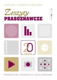 Zeszyty Prasoznawcze, 2018/10, Tom 61, Numer 2 (234)