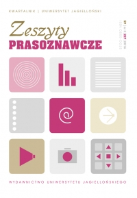 Zeszyty Prasoznawcze, 2016/11, Tom 59, Numer 3 (227)