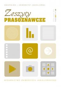 Zeszyty Prasoznawcze, 2016/12, Tom 59, Numer 4 (228)