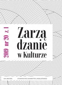 Zarządzanie w Kulturze, 2019/3, Tom 20, Numer 1
