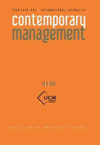 International Journal of Contemporary Management, 2017/9, Numer 16(1)
