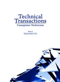 Czasopismo Techniczne, 2018/5, Volume 5