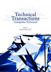Czasopismo Techniczne, 2019/7, Volume 7