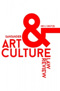 Santander Art and Culture Law Review, 2017/12, 1/2017 (3)