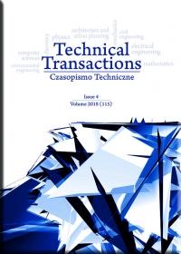 Czasopismo Techniczne, 2018/4, Volume 4