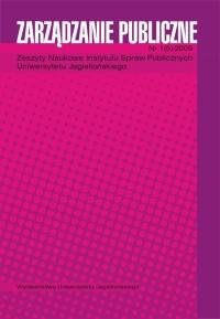 Zarządzanie Publiczne, 2009/1, Numer 1 (5)