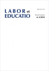 Labor et Educatio, 2016/1, 4 (2016)