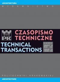 Czasopismo Techniczne, 2012/4, Architektura Zeszyt 4-A (13) 2012