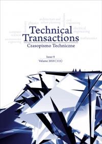 Czasopismo Techniczne, 2018/9, Volume 9