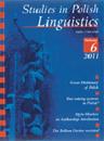 Studies in Polish Linguistics, 2011/10, Issue 1