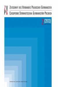 Zeitschrift des Verbandes Polnischer Germanisten, 2015/1, Zeszyt 4 (2015)
