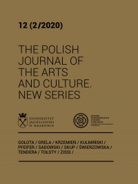 The Polish Journal of the Arts and Culture. New Series, 2020/12, 12 (2/2020)