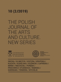 The Polish Journal of the Arts and Culture. New Series, 2020/6, 11 (1/2020)