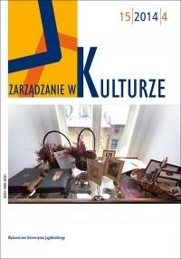 Zarządzanie w Kulturze, 2014/10, Tom 15, Numer 4