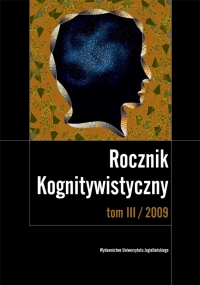 Rocznik Kognitywistyczny, 2009/1, Tom 3