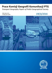 Prace Komisji Geografii Komunikacji PTG , 2016/7, 19 (3)